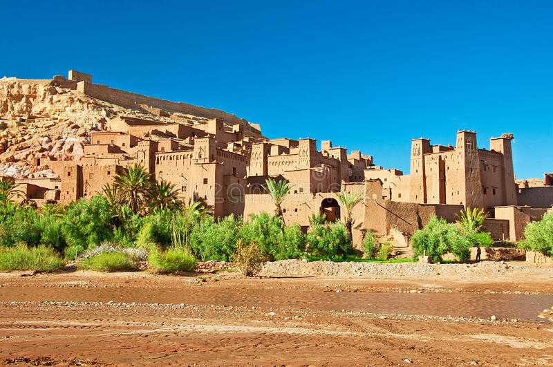 Download The Clay City In The North Of Africa Stock Image - Image of river, locations: 31080937