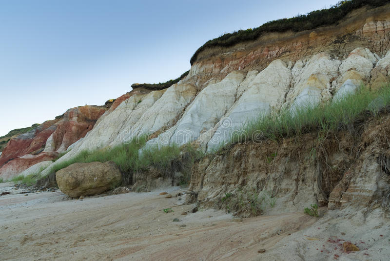 Clay Cliffs on Aquinnah Beach royalty free stock photography