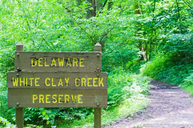 Clay Creek Trails branco fotografia de stock