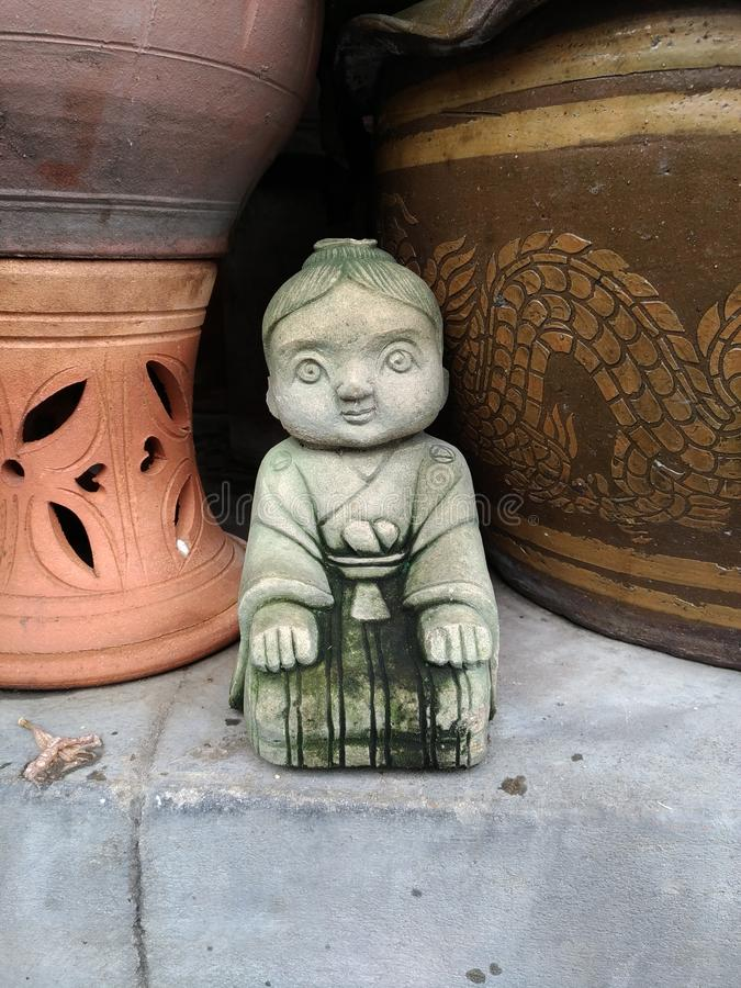 Clay Doll fotos de archivo