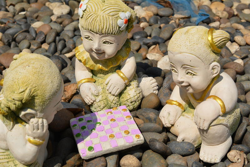 Clay Dolls fotografía de archivo