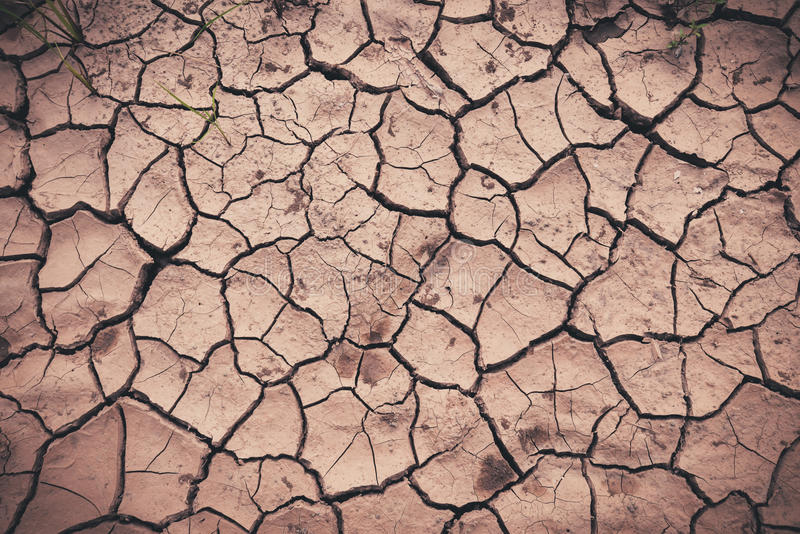 Clay dry. Cracks with on the ground with ground dry stock photography