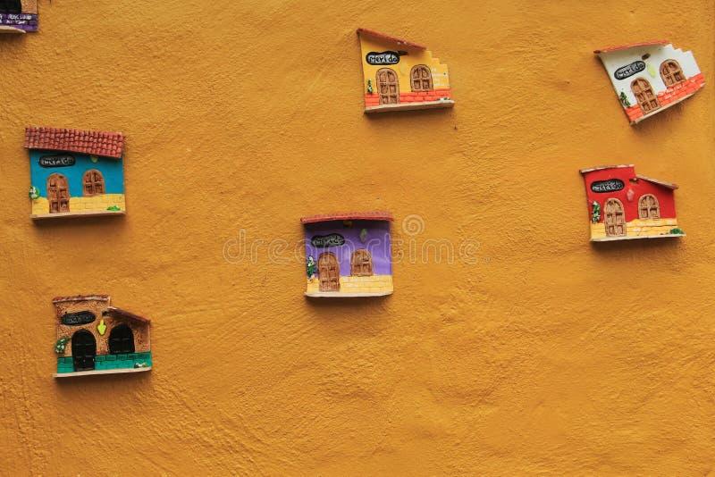 Clay Facades stock afbeelding