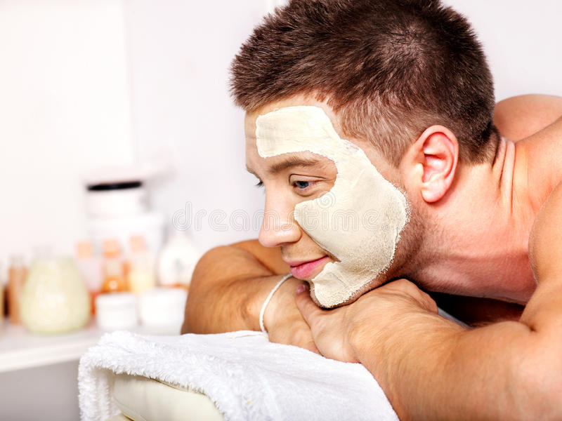 Download Clay Facial Mask In Beauty Spa. Stock Image - Image: 27442205