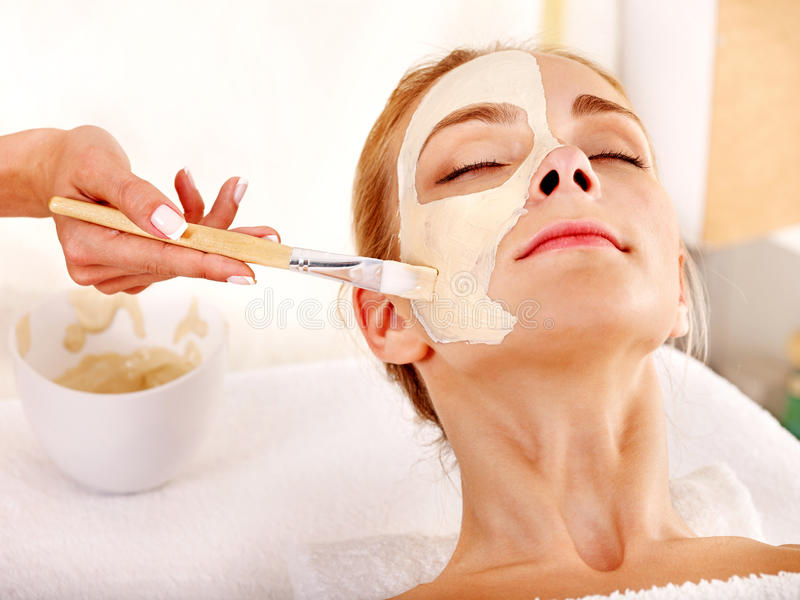 Download Clay Facial Mask In Beauty Spa. Stock Image - Image: 27569069