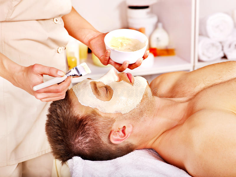 Download Clay Facial Mask In Beauty Spa. Stock Photo - Image of facial, natural: 28031872
