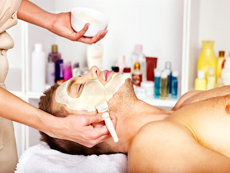 Download Clay Facial Mask In Beauty Spa. Stock Photo - Image: 34069362