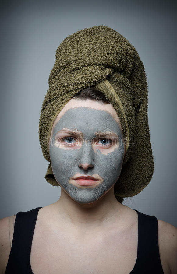 Clay facial mask royalty free stock images