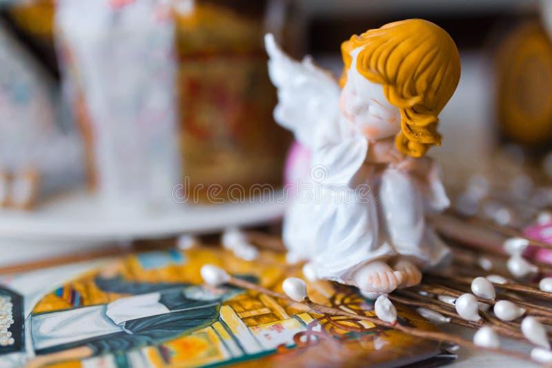 Clay figurine angel royalty free stock photo