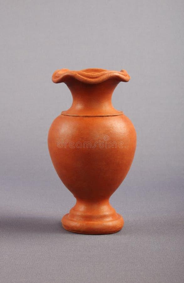 Clay Flower Vase fotografering för bildbyråer