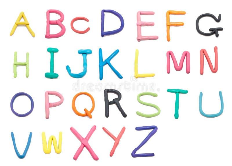 clay font to z royaltyfria foton