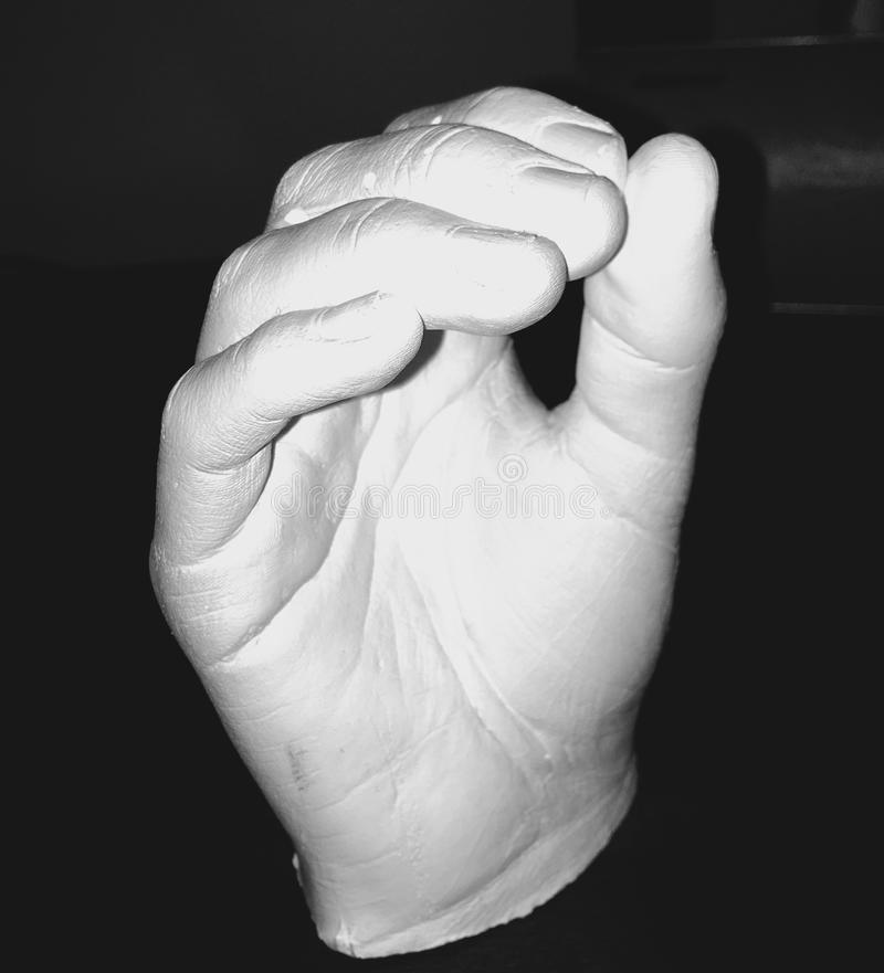 Clay Hand stock photography
