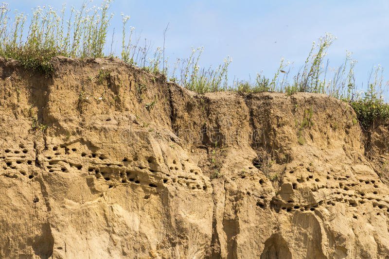 Clay hill in Ukraine. Clay and sand hill in Ukraine stock image