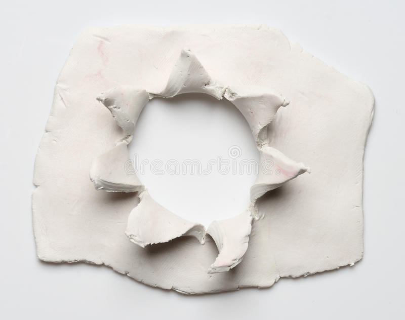 Clay hole royalty free stock images
