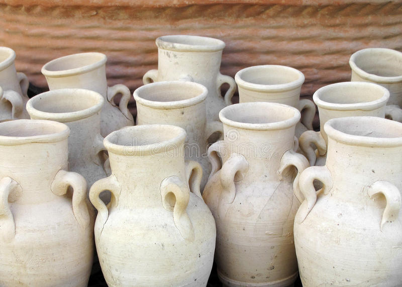 Download Clay jars stock photo. Image of container, pottery, vase - 13460960