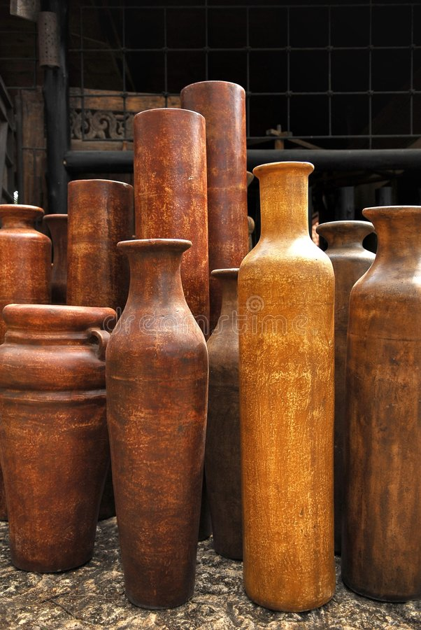 Clay jugs royalty free stock photos