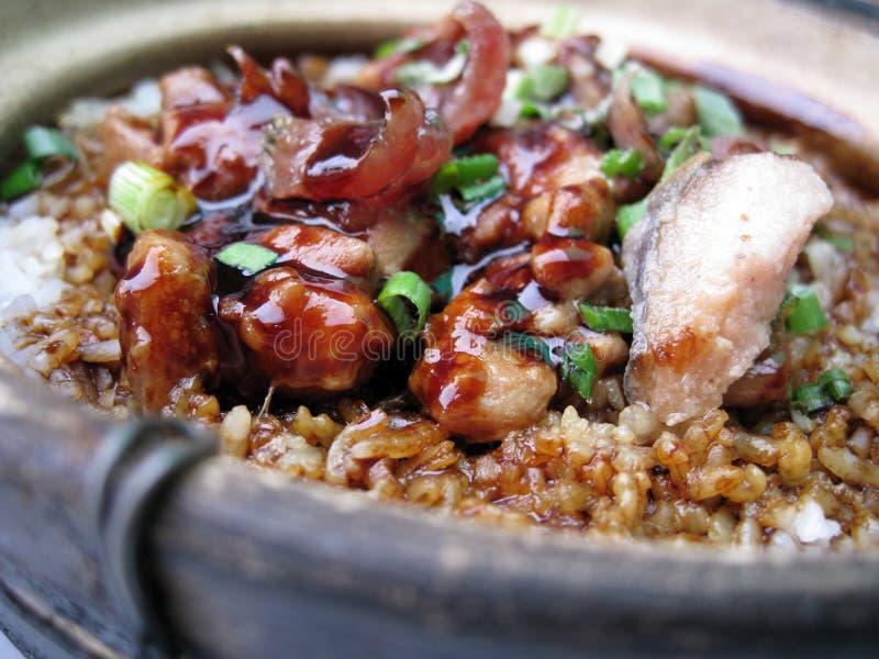 clay kurczaka doniczki ryżu obrazy stock