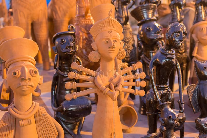 Clay Made Dolls Handicraft Items On Display Kolkata