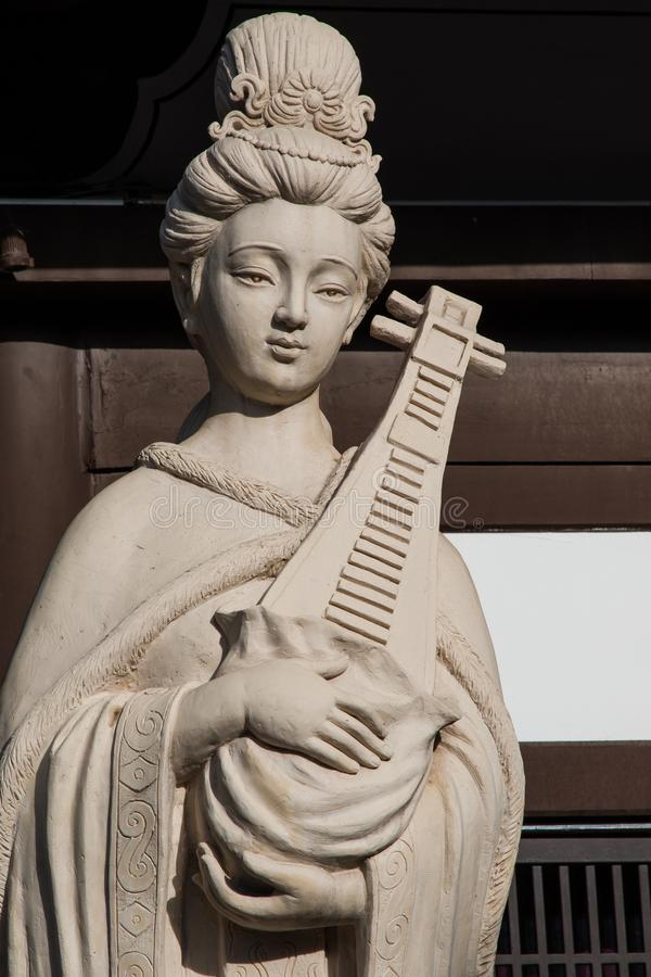 Clay Maiden Sculpture fotografia stock