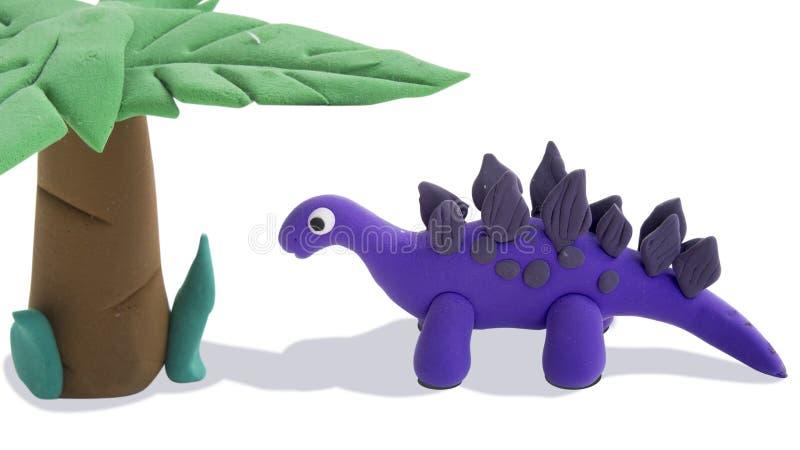 Clay model dinosaur art. Education stock images