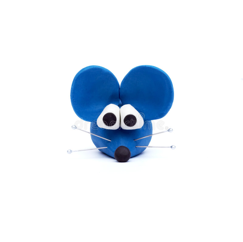 clay modelarska niebieska mysz fotografia royalty free