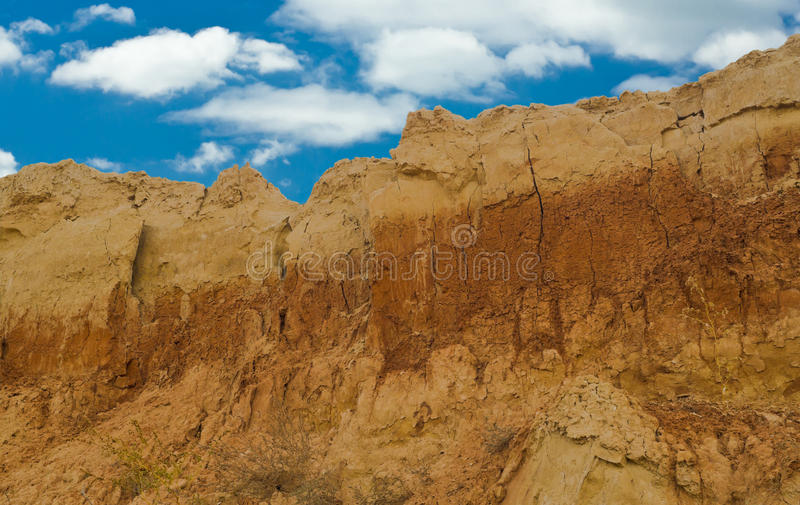 Clay mountain in an open pit. A clay mountain in an open pit in Ukraine royalty free stock photo