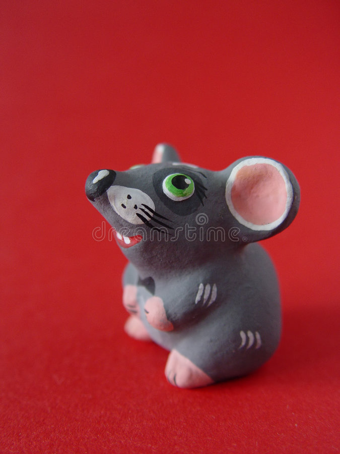 Download Clay mouse stock photo. Image of souvenir, gift, close - 298634