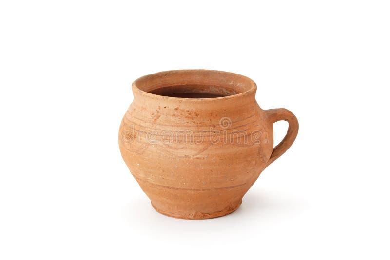 Clay old jug handmade stock image