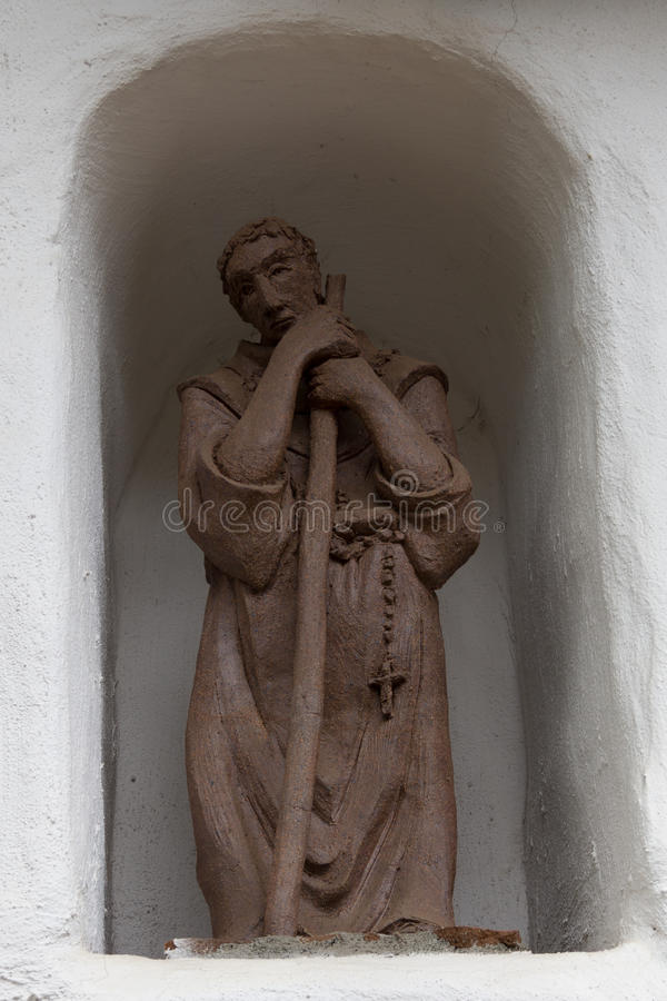 Clay Padre Statue image stock