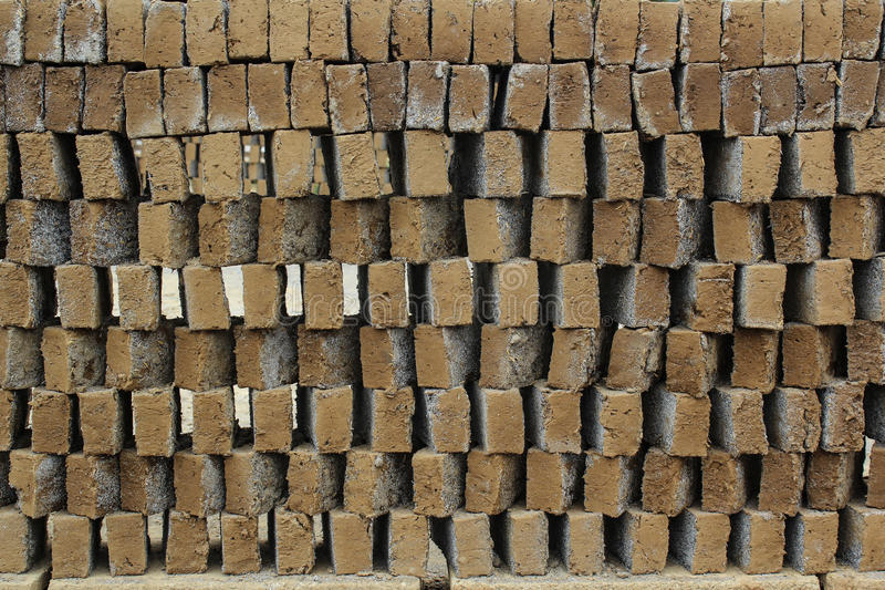 Clay Pattern Before Brick Stock Images