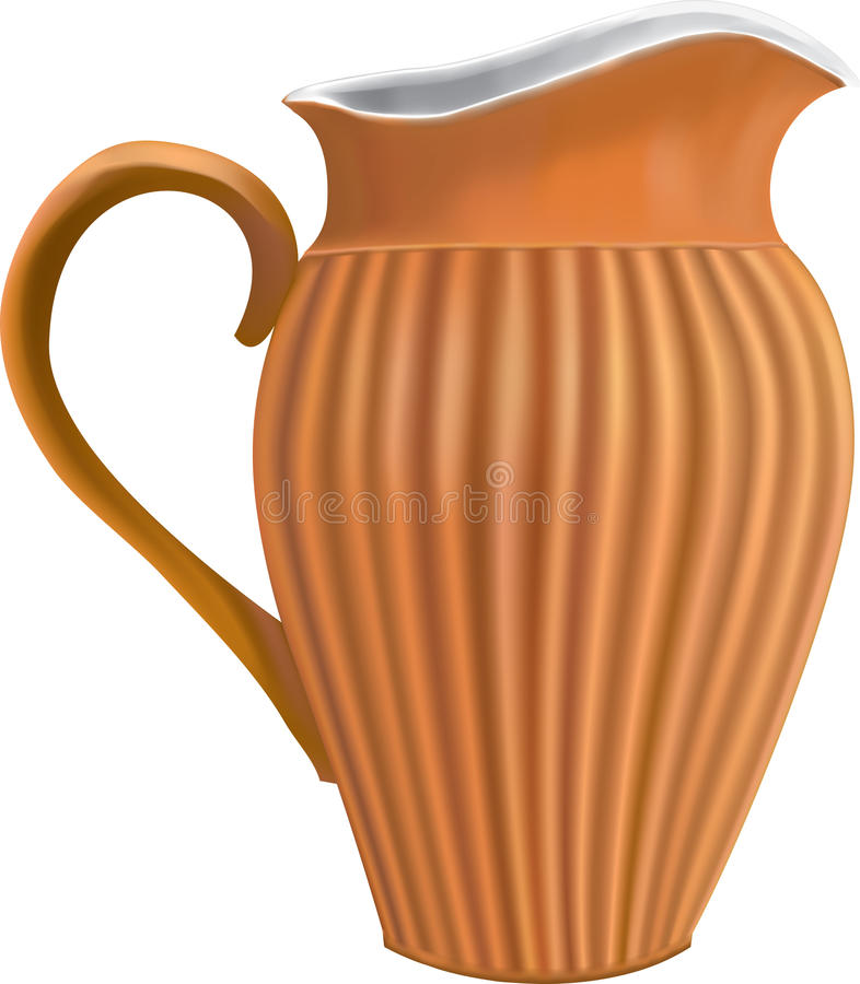 Clay pitcher stock illustration