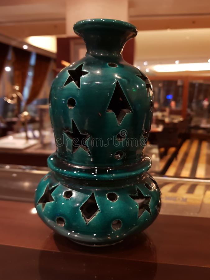 Clay pot design for Ramadan stock photo