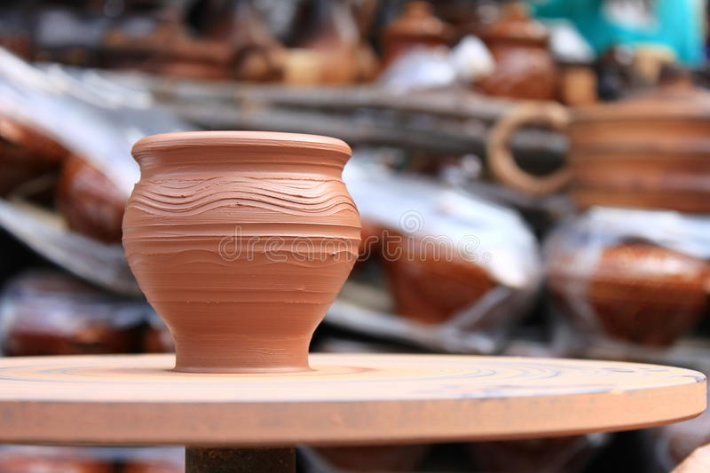 Clay pot spinning