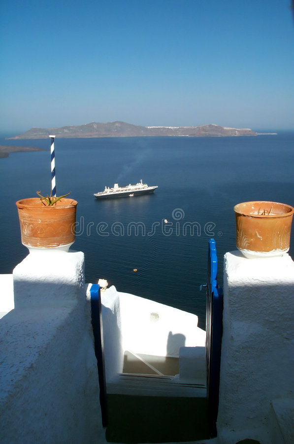 Download Clay pots stock image. Image of travel, clay, santorini, steps - 431