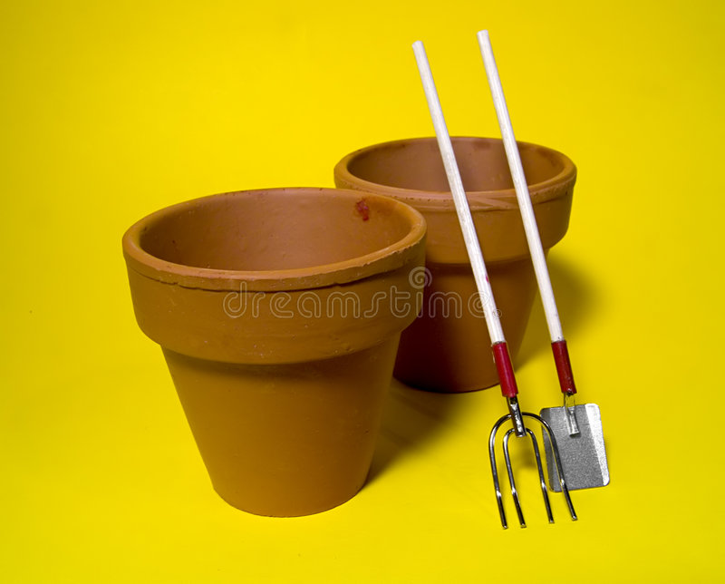 Download Clay Pots stock image. Image of food, spill, contrast, yard - 13145