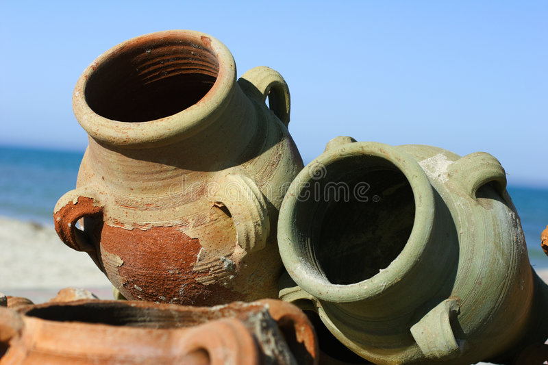 Clay pots royalty free stock photos