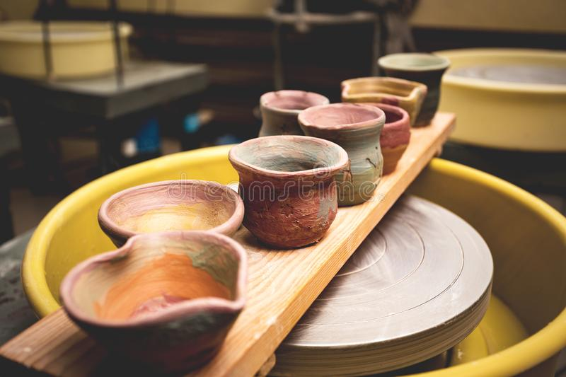 A clay pots stock images