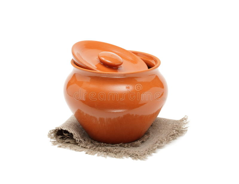 Download Clay Pots For Cooking And Napkin Stock Photography - Image: 35429512