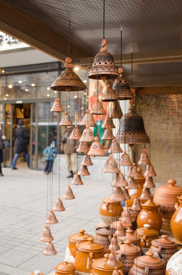 Download Clay Pots Hang Bells Ware Store Shop Market People Stock Photo - Image: 30651082