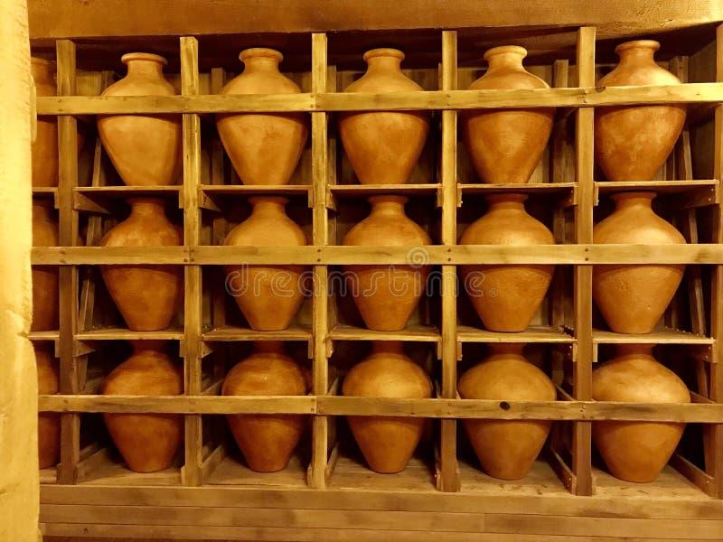 Clay Pots na arca no parque temático do encontro da arca fotos de stock