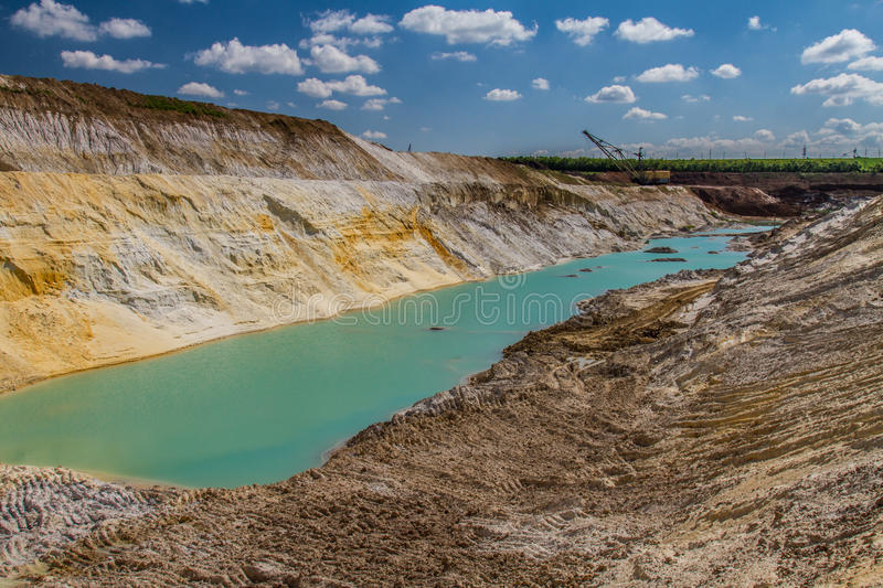 Clay quarry royalty free stock photography