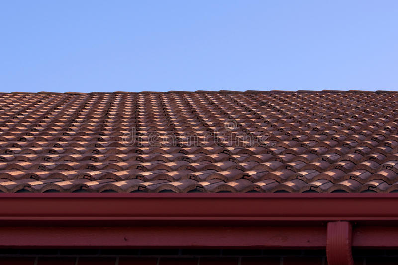 Download Clay roof and blue sky stock photo. Image of tile, blue - 16992608