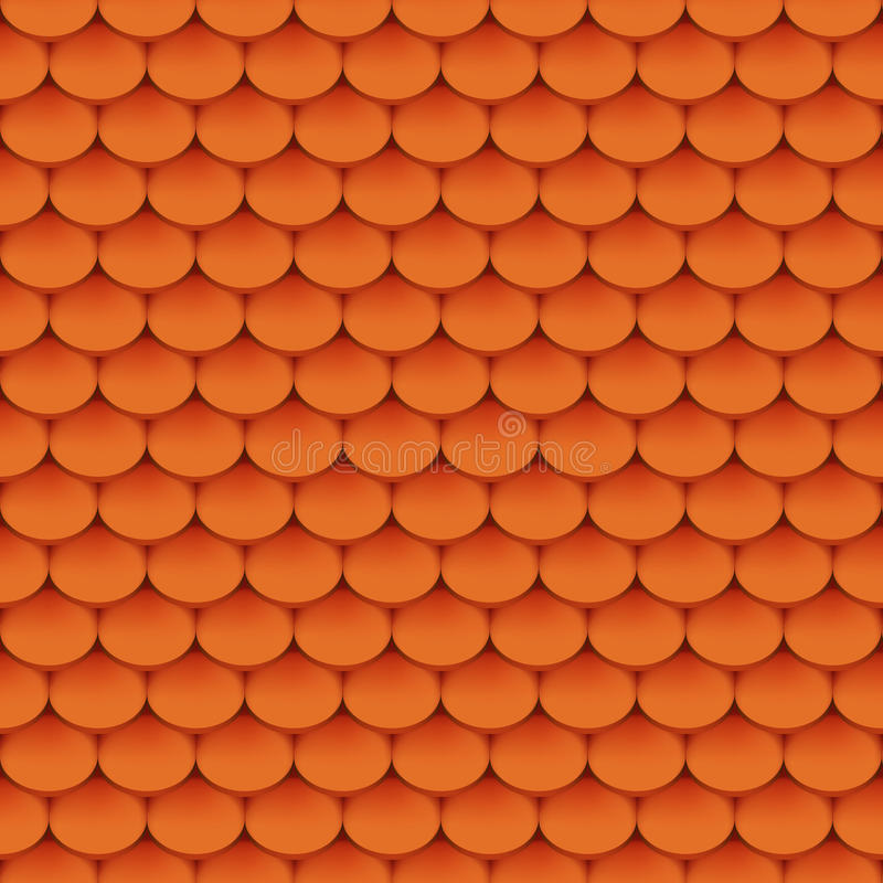 Clay roof tiles. Seamless pattern. Vector illustration royalty free illustration