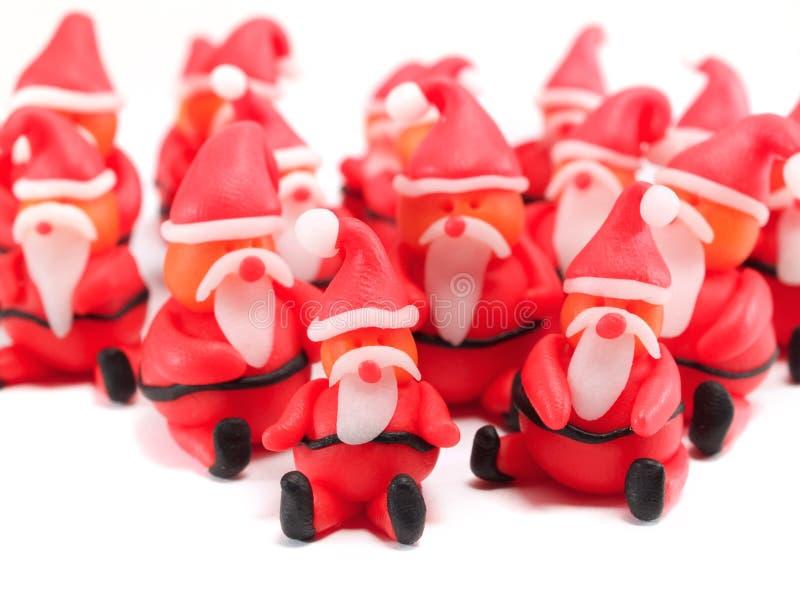 Clay Santas stock foto's