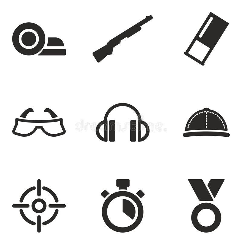 Clay Shooting Icons illustration de vecteur