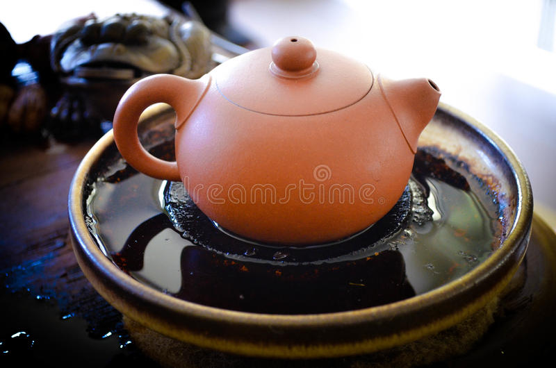 Clay Tea pot royalty free stock image