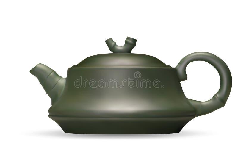 clay teapot chi?czykiem ilustracji