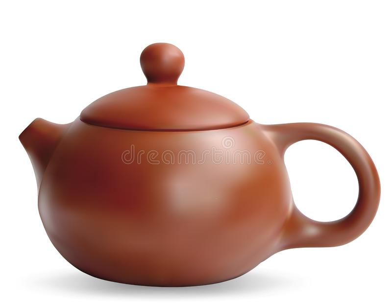 clay teapot chi?czykiem royalty ilustracja
