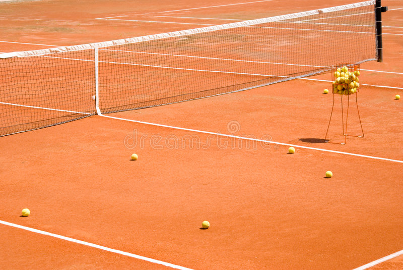 Download Clay Tennis Court stock image. Image of ball, outdoor - 6365553