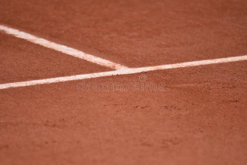 Clay Tennis Court Lines imagem de stock royalty free